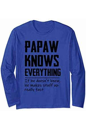Papaw Know Everything - Family Gift Mens Vintage Papaw Know Everything - Grandpa Gift Long Sleeve T-Shirt