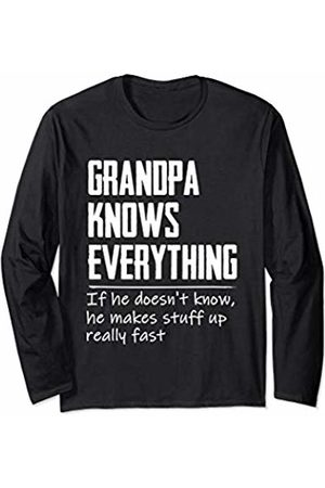 Papa Know Everything - Family Gift Mens Grandpa Know Everything - Grandpa Gift Long Sleeve T-Shirt