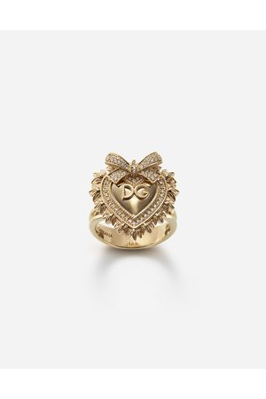Dolce & Gabbana Women Rings - Jewelry - DEVOTION RING IN WITH DIAMONDS