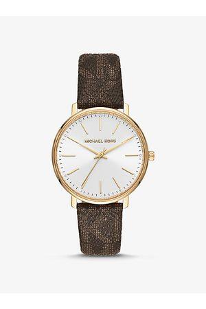 Michael Kors Watches - MK Pyper Logo and Gold-Tone Watch