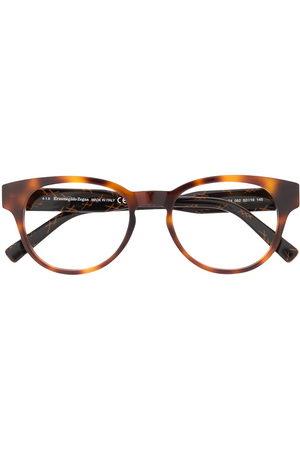 Ermenegildo Zegna Tortoiseshell round frame glasses