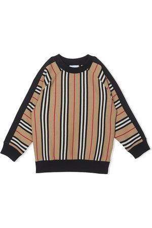 Burberry Icon stripe sweatshirt - NEUTRALS