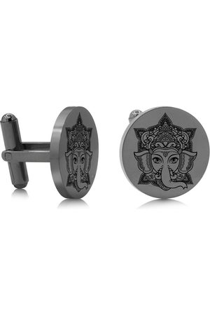 SuperJeweler Ganesha Cufflinks, Gunmetal