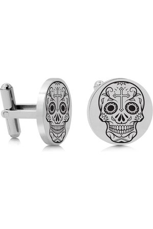 SuperJeweler Skull & Cross Cufflinks