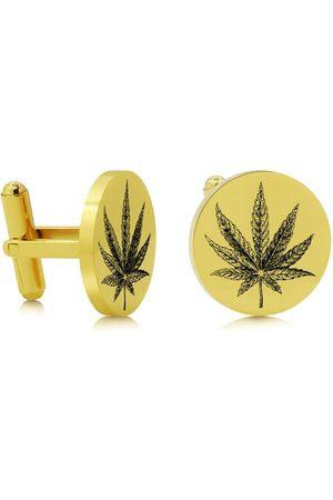 SuperJeweler Cannabis Leaf Cufflinks