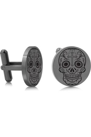 SuperJeweler Skull & Cross Cufflinks, Gunmetal
