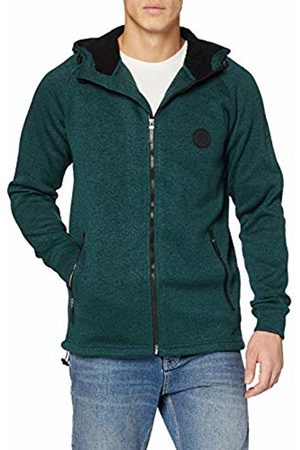 JP 1880 Men's Big & Tall Knitted Fleece Hooded Jacket Pine XXX-Large 723298 45-3XL