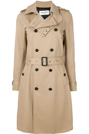Saint Laurent Belted classic trench coat - NEUTRALS
