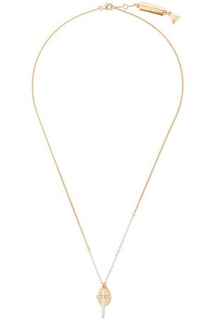 Coup De Coeur Cross and disc necklace