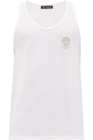 VERSACE Men Loungewear - Medusa-print Cotton-blend Vest - Mens