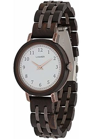 Laimer Women's Woodwatch EMMA Mod. 0090 sandalwood - Analogue Quartz-Wristwatch with dark-brown wood-strap