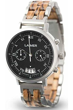 Laimer Chronograph wood watch LEON - mens wristwatch made of Zebrano wood and stainless steel case - comfort & lifestyle