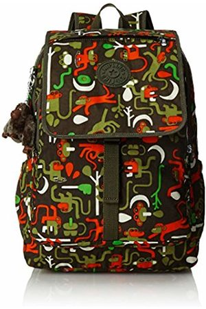 Kipling HARUKO - Large Backpack - Monkey Frnds Kh - (Print)