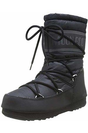 Moon-boot Unisex Adults Mid Nylon Wp Snow Boots, (Nero 001)
