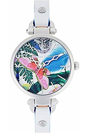 Christian Lacroix Womens Analogue Quartz Watch with Leather Strap CLWE15