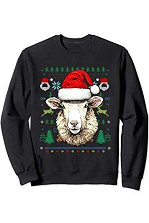 Wowsome! Sheep Ugly Christmas Santa Hat Xmas Gifts Kids Boys Girls Sweatshirt