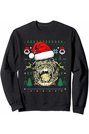 Wowsome! Crocodile Ugly Christmas Santa Hat Xmas Gifts Sweatshirt