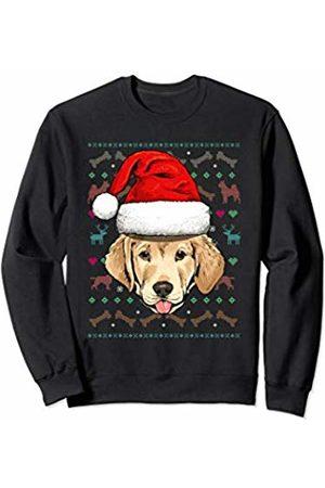 Wowsome! Labrador Retriever Ugly Christmas Dog Santa Hat Xmas Sweatshirt