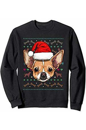 Wowsome! Chihuahua Ugly Christmas Dog Santa Hat Xmas Boys Kids Sweatshirt
