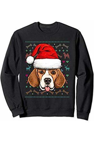 Wowsome! Beagle Ugly Christmas Dog Santa Hat Xmas Boys Kids Sweatshirt