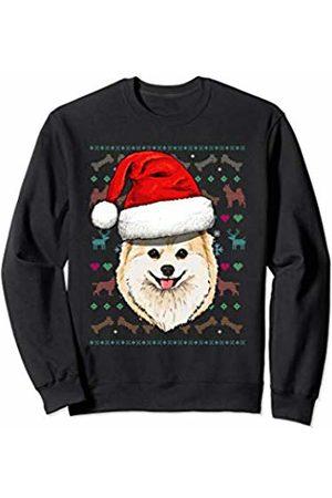 Wowsome! Pomeranian Ugly Christmas Dog Santa Hat Xmas Boys Kids Sweatshirt