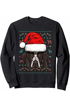 Wowsome! German Shorthaired Pointer Ugly Christmas Dog Santa Hat Xmas Sweatshirt