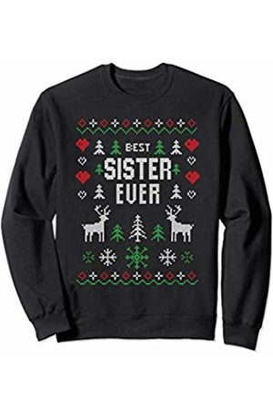 Best Sister Christmas Gifts Best Sister Ever Cute Funny Christmas Clothing Women Girls Sweatshirt