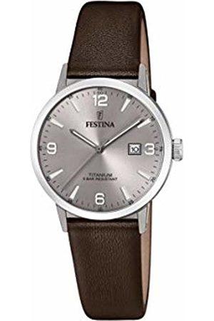 Festina Womens Analogue Quartz Watch with Leather Strap F20472/2