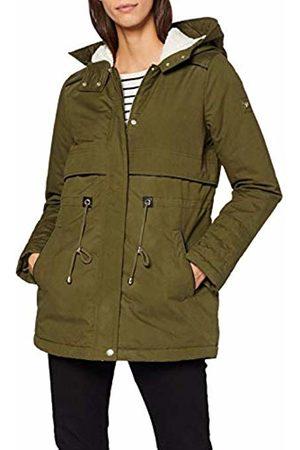 TOM TAILOR Women's Parka with Teddy Fur Coat, Golden Olive 7537