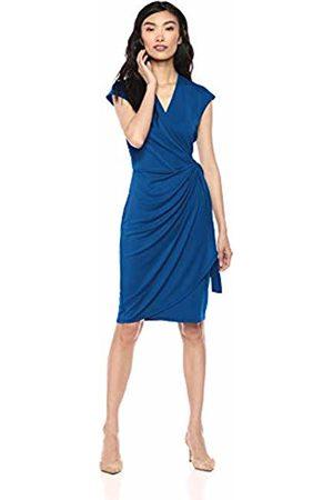 Lark & Ro Classic Cap Sleeve Wrap Dress Business Casual