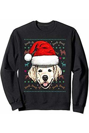 Wowsome! Golden Retriever Ugly Christmas Dog Santa Hat Xmas Boys Kids Sweatshirt
