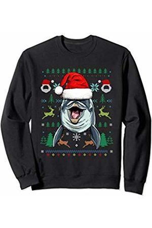 Wowsome! Dolphin Ugly Christmas Santa Hat Xmas Gifts Kids Boys Girls Sweatshirt