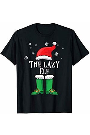 Santa's Elf Holiday PJ's & Gifts Matching Family Christmas Outfit -Funny Gift- The Lazy Elf T-Shirt