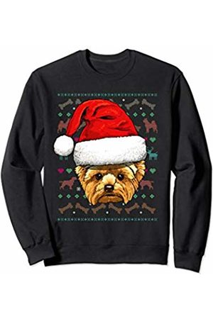 Wowsome! Yorkshire Terrier Ugly Christmas Dog Santa Hat Xmas Sweatshirt