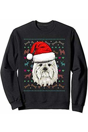 Wowsome! Maltese Ugly Christmas Dog Santa Hat Xmas Boys Kids Sweatshirt