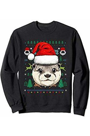 Wowsome! Otter Ugly Christmas Santa Hat Xmas Gifts Kids Boys Girls Sweatshirt