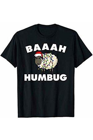 Miftees Baaah Humbug Anti-Christmas Sheep funny grumpy sheep T-Shirt
