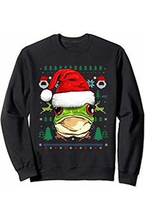 Wowsome! Frog Ugly Christmas Santa Hat Xmas Gifts Kids Boys Girls Sweatshirt