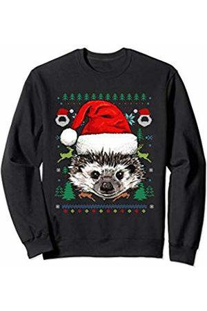 Wowsome! Hedgehog Ugly Christmas Santa Hat Xmas Gifts Kids Boys Girls Sweatshirt