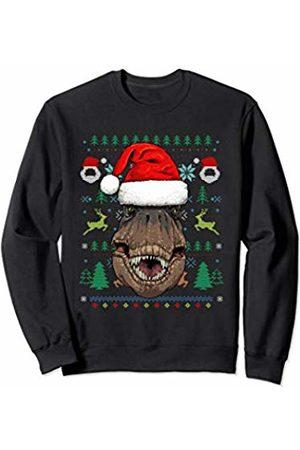 Wowsome! T-Rex Dino Ugly Christmas Santa Hat Xmas Gifts Sweatshirt