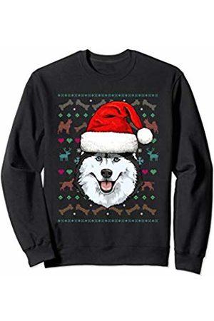 Wowsome! Siberian Husky Ugly Christmas Dog Santa Hat Xmas Boys Kids Sweatshirt