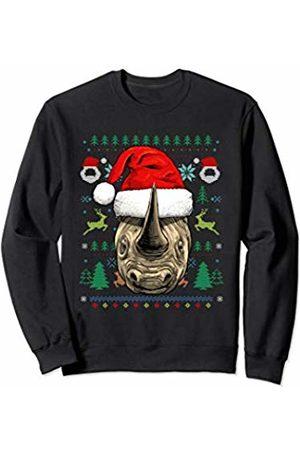 Wowsome! Rhinoceros Ugly Christmas Santa Hat Xmas Gifts Sweatshirt