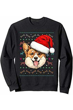 Wowsome! Corgi Ugly Christmas Dog Santa Hat Xmas Boys Kids Sweatshirt