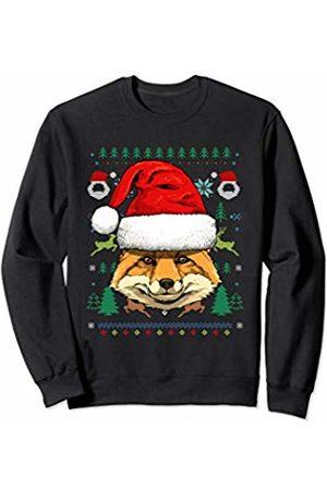Wowsome! Fox Ugly Christmas Santa Hat Xmas Gifts Kids Boys Girls Sweatshirt