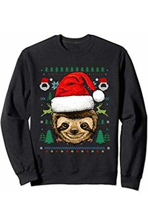 Wowsome! Sloth Ugly Christmas Santa Hat Xmas Gifts Kids Boys Girls Sweatshirt