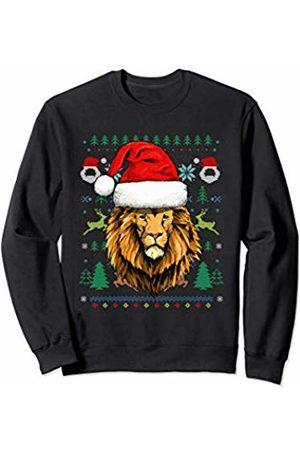 Wowsome! Lion Ugly Christmas Santa Hat Xmas Gifts Kids Boys Girls Sweatshirt