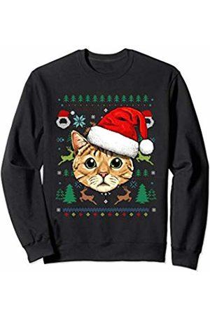 Wowsome! Cat Ugly Christmas Santa Hat Xmas Gifts Kids Boys Girls Sweatshirt