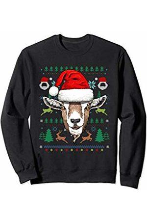 Wowsome! Goat Ugly Christmas Santa Hat Xmas Gifts Kids Boys Girls Sweatshirt