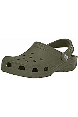 Crocs Men's and Women's Classic Clog, Comfortable Slip On Casual Water Shoe, Army