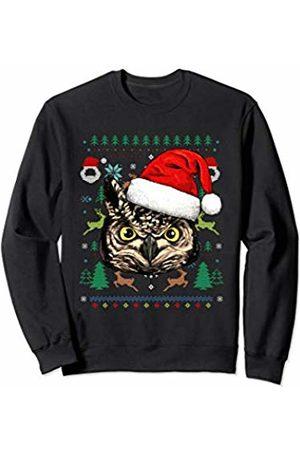 Wowsome! Owl Ugly Christmas Santa Hat Xmas Gifts Kids Boys Girls Sweatshirt